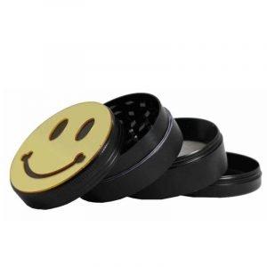 4 parts metal grinder with smiley (50mm)